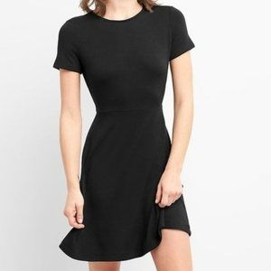 Gap Softspun Fit and Flare Dress in Black